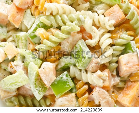 Yummy healthy pasta salad - stock photo