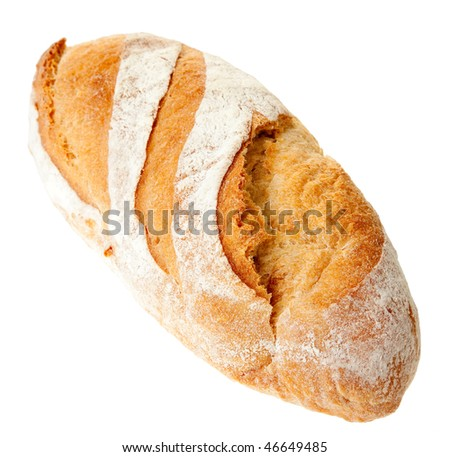 yummy juicy bread on a white background - stock photo