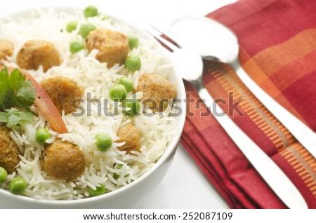 Yummy peas pulao - stock photo