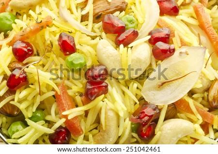 Yummy safron rice - stock photo
