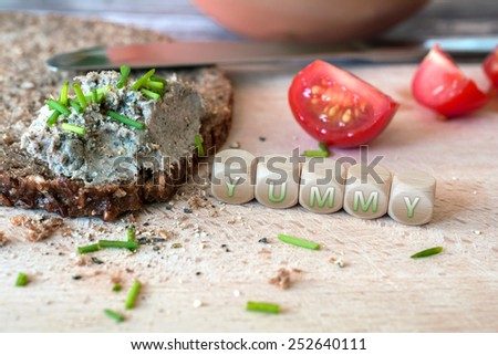 Yummy Wholemeal Bread With Spread - stock photo