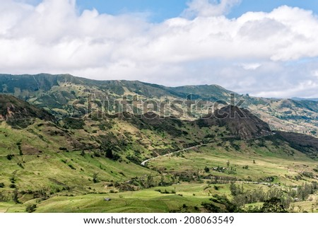Yunguilla Valley, Ecuador on the way to Giron. - stock photo