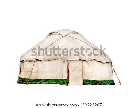 Yurt traditional nomadic house in central Asia isolated on white background  sc 1 st  Shutterstock & Yurt Traditional Nomadic House Central Asia Stock Photo 139223207 ...