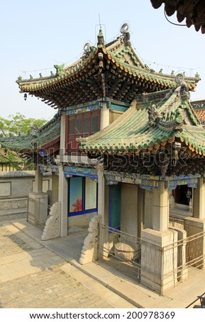 YUTIAN MAY 18:Memorial building landscape in Jijue Temple on may 18, 2014, Yutian county, Hebei Province, China.