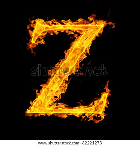 z ,fire letter - stock photo