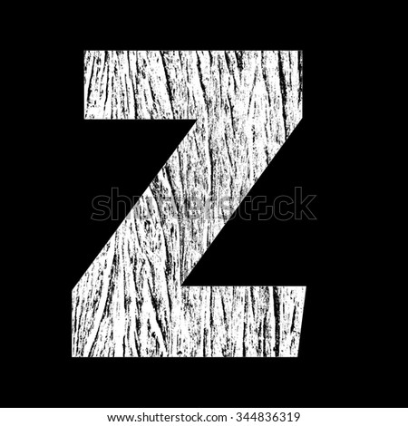 Z letter wrap with white wood texture
