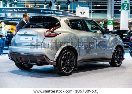 November 2017 Low Angle Rear View Of Silver Nissan Juke Nismo