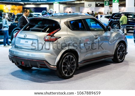 November 2017 Rear View Of Silver Nissan Juke Nismo RS At