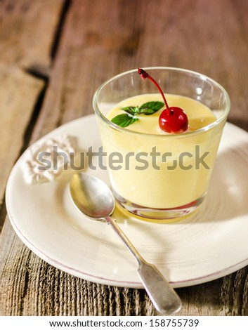 Zabaione - italian alcoholic dessert - stock photo