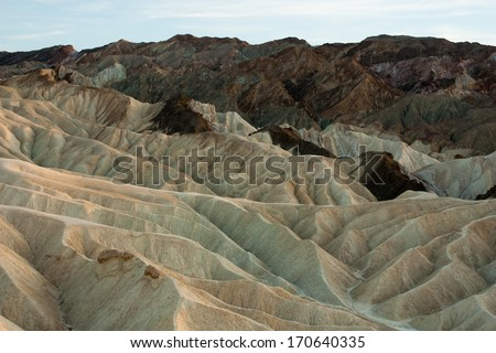 Zabriskie Point at dusk, Death Valley National Park, California