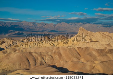 Zabriskie Point view of Death Valley in California - stock photo