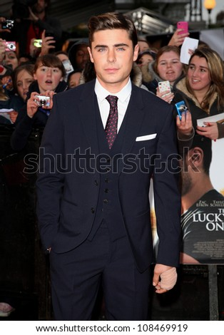 Zac Efron arriving for 'The Lucky One' European Premiere, Bluebird, Chelsea, London. 23/04/2012 Picture by: Alexandra Glen / Featureflash