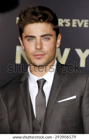 Zac Efron at the Los Angeles premiere of 'New Year's Eve' held at the Grauman's Chinese Theatre in Hollywood on December 5, 2011.   - stock photo
