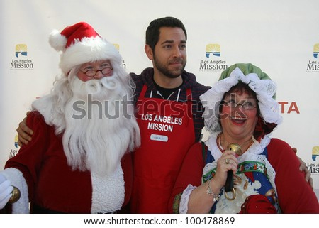 Zachary Levi at the Christmas Eve For Homeless Served at Los Angeles Mission, Los Angeles, CA. 12-24-10