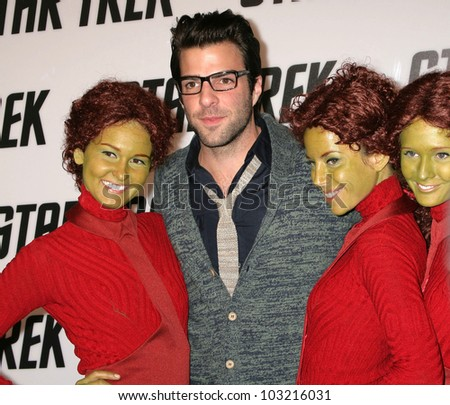 "Zachary Quinto at the ""Star Trek"" DVD And Blu-Ray Release Party, Griffith Observatory, Los Angeles, CA. 11-15-09 - stock photo"