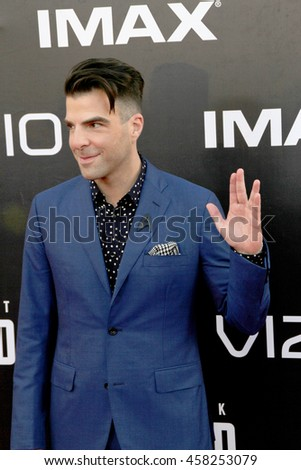 Zachary Quinto attends at the Star TreK Beyond  premiere during Comic Con on July 20, 2016 at the Embarcadero Marina Park South in San Diego, CA.