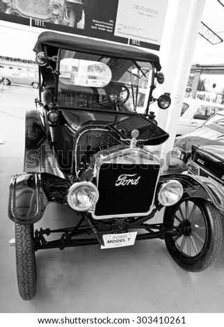 ZAGREB, CROATIA - AUGUST 3rd. 2015. - Antique Car 1922 Ford Model T in the automotive exhibition in Zagreb, Croatia