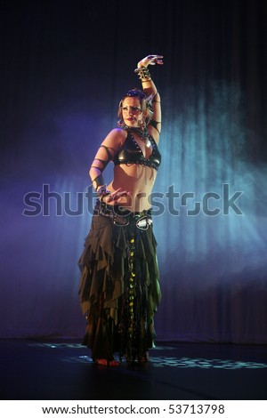 ZAGREB, CROATIA - MAY 08: Belly dancer performance on Belly Freak Show, May 08, 2010 Zagreb, Croatia.