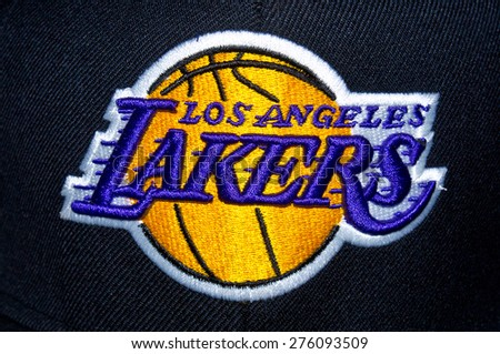 Lakers stock images royalty free images vectors shutterstock zagreb croatia may 7th 2015 nba basketball club los angeles lakers logo voltagebd Choice Image