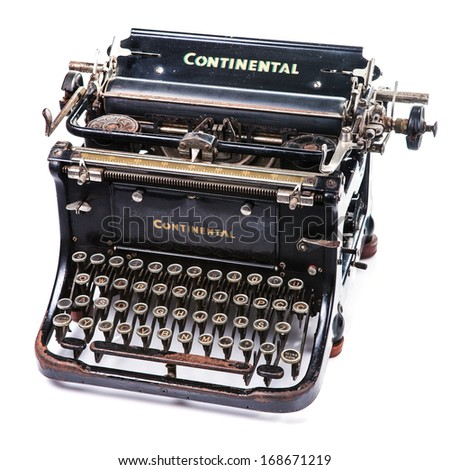 ZAGREB, CROATIA - MAY 23, 2013: The Standard, a Continental typewriter, designed by Julius Mohns in 1904. It was produced in Wanderer-Fahrradwerke factory, in Siegmar-Schonau Germany.