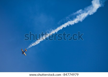 ZAGREB, CROATIA - SEPT 3: Airplane performing during 11th International Zagreb Air Show on Sept 3, 2011 in Zagreb, Croatia.