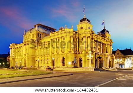 Zagreb - Croatian National Theate - stock photo