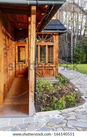 ZAKOPANE, POLAND - NOVEMBER 16: Atma House, built the late 19th century by Jozef Kasprus Stoch, the composer Karol Szymanowski lived here from 1930 to 1936, in Zakopane in Poland on November 16, 2013