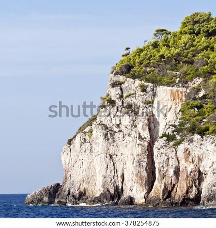 Zakynthos coastline Greece  - stock photo