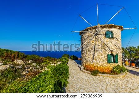 Zakynthos, Greece -  windmill - stock photo