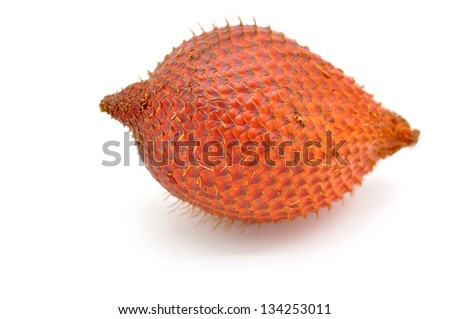 Zalacca fruit isolated on white background - stock photo