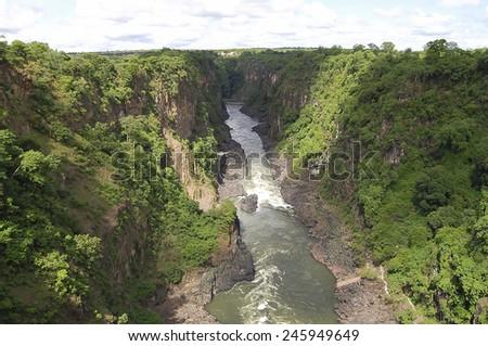 Zambezi River - Zambia/Zimbabwe - stock photo