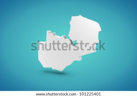 Zambia Map - stock photo