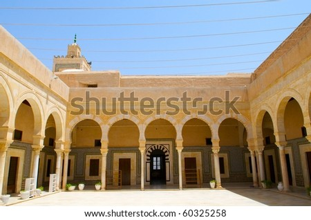 Zaouia Sidi Sahab, Kairouan, Tunisia - stock photo