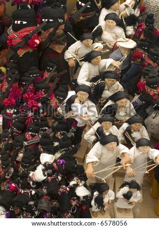 Zapatistas Dolls, in Chiapas Mexico - stock photo