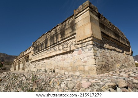 Zapotec ruins in Mitla in the state of Oaxaca Mexico - stock photo