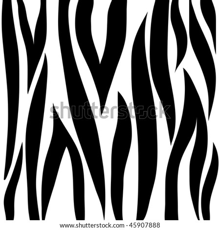 Zebra animal print pattern - stock photo