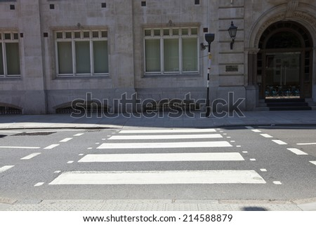 Illustration of car stopped at pedestrian crossing - Quot Zebra Crossing Quot Stock Images Royalty Free Images