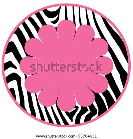 Zebra Diva Circle - stock photo