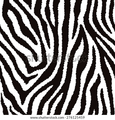 Zebra fur texture pattern repeats seamlessly. - stock photo