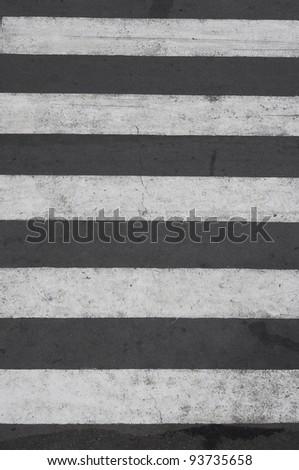 Zebra - pedestrian road crossing area - stock photo