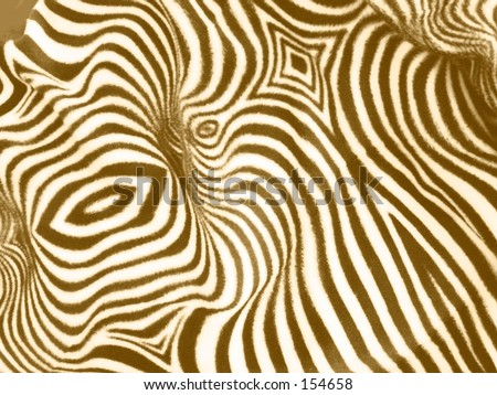 Zebra print cloth, tinted brown-gold - stock photo