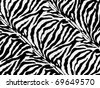 zebra skin pattern - stock photo