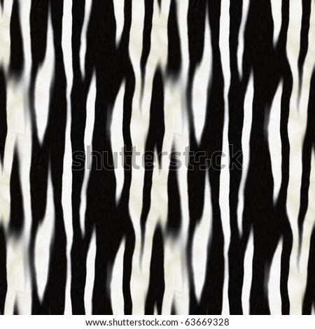 Zebra stripe pattern that tiles seamlessly as a pattern in any direction. - stock photo
