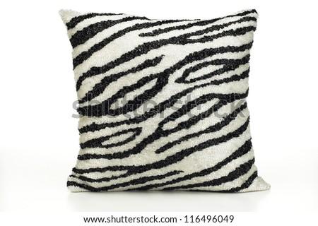 Zebra Stripe Pillow - stock photo