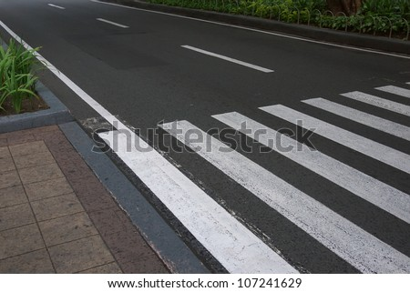 zebra traffic walk way - stock photo