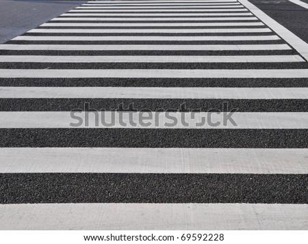 zebra traffic walkway - stock photo