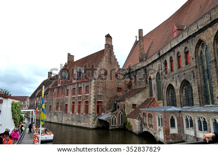 ZEEBRUGGE, BELGIUM, 7 june 2015: Old architecture of Zeebrugge  city in Belgium