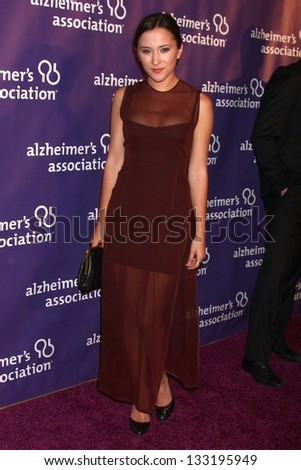 """Zelda Williams at the 21st Annual """"A Night at Sardi's"""" to Benefit the Alzheimer's Association, Beverly Hilton, Beverly Hills, CA 03-20-13 - stock photo"""