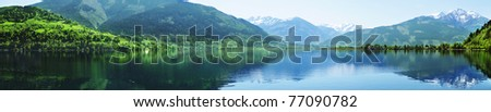 Zell lake in Zell Am See, Austria - stock photo