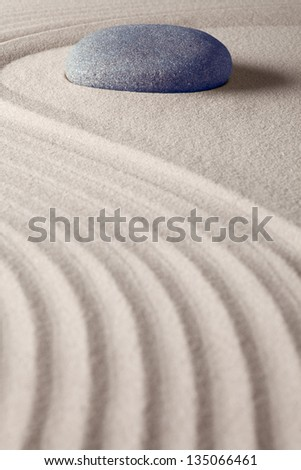 zen buddhism spiritual japanese rock garden abstract harmony and balance concept for purity concentration meditation and spa relaxation sand and stone - stock photo